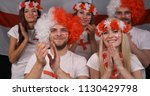 happy group of people fanatic... | Shutterstock . vector #1130429798