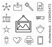 set of 13 simple editable icons ... | Shutterstock .eps vector #1130431472
