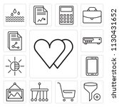 set of 13 simple editable icons ... | Shutterstock .eps vector #1130431652