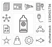 set of 13 simple editable icons ... | Shutterstock .eps vector #1130431736