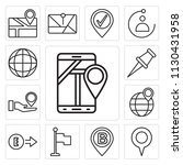 set of 13 simple editable icons ... | Shutterstock .eps vector #1130431958