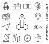 set of 13 simple editable icons ... | Shutterstock .eps vector #1130432075