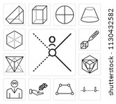 set of 13 simple editable icons ... | Shutterstock .eps vector #1130432582