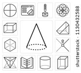 set of 13 simple editable icons ... | Shutterstock .eps vector #1130432588