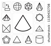 set of 13 simple editable icons ... | Shutterstock .eps vector #1130432708
