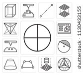 set of 13 simple editable icons ... | Shutterstock .eps vector #1130433155
