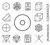 set of 13 simple editable icons ... | Shutterstock .eps vector #1130433215