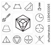 set of 13 simple editable icons ... | Shutterstock .eps vector #1130433305