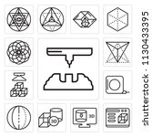 set of 13 simple editable icons ... | Shutterstock .eps vector #1130433395