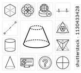 set of 13 simple editable icons ... | Shutterstock .eps vector #1130433428