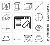 set of 13 simple editable icons ... | Shutterstock .eps vector #1130433458