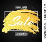 web banner for sale. golden... | Shutterstock .eps vector #1130434475