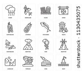 set of 16 icons such as buoy ... | Shutterstock .eps vector #1130435075
