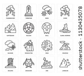 set of 16 icons such as... | Shutterstock .eps vector #1130435078