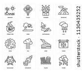 set of 16 icons such as storm ... | Shutterstock .eps vector #1130435252