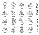 set of 16 icons such as ecology ...   Shutterstock .eps vector #1130435306