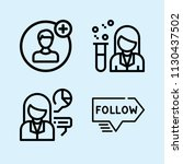 outline set of 4 people icons... | Shutterstock .eps vector #1130437502