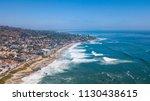 laguna beach  orange county ... | Shutterstock . vector #1130438615