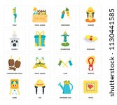 set of 16 icons such as patch ...