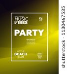 party poster for night club.... | Shutterstock .eps vector #1130467535