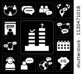 set of 13 simple editable icons ... | Shutterstock .eps vector #1130471018