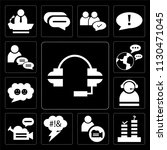 set of 13 simple editable icons ... | Shutterstock .eps vector #1130471045