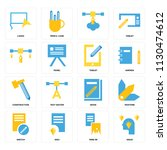 set of 16 icons such as ideas ...