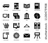 set of 16 icons such as canvas  ...