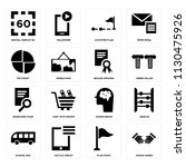 set of 16 icons such as shake...