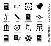 set of 16 icons such as audio...