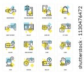 set of 16 icons such as coin ... | Shutterstock .eps vector #1130476472