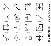 set of 16 icons such as sort ...