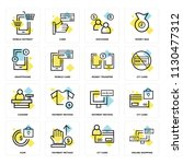 set of 16 icons such as online... | Shutterstock .eps vector #1130477312