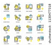 set of 16 icons such as broken  ... | Shutterstock .eps vector #1130477318