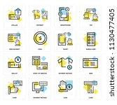 set of 16 icons such as card ... | Shutterstock .eps vector #1130477405
