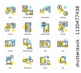 set of 16 icons such as bag ... | Shutterstock .eps vector #1130477438