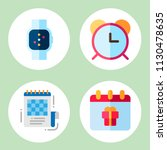 simple 4 icon set of time...   Shutterstock .eps vector #1130478635