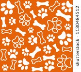 background with dog paw print... | Shutterstock .eps vector #1130484512