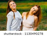 close up of pretty girls with... | Shutterstock . vector #1130490278