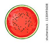 circle of ripe watermelon on a... | Shutterstock .eps vector #1130493608