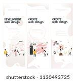 web design development concept...