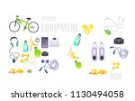 sports equipment set with... | Shutterstock .eps vector #1130494058