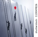 tiny abstract people climbing...   Shutterstock . vector #113049826
