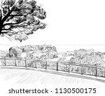 monaco. south of europe. hand... | Shutterstock .eps vector #1130500175