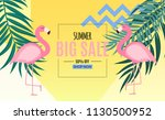 abstract summer sale background ... | Shutterstock .eps vector #1130500952