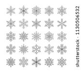 cute snowflakes collection... | Shutterstock .eps vector #1130506532