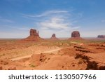 east and west mitten buttes ... | Shutterstock . vector #1130507966