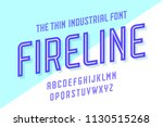 alphabet and font fire line.... | Shutterstock .eps vector #1130515268