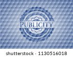 publicity blue hexagon emblem. | Shutterstock .eps vector #1130516018
