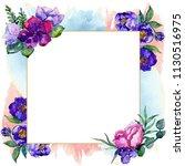 blue bouquet flowers in a... | Shutterstock . vector #1130516975